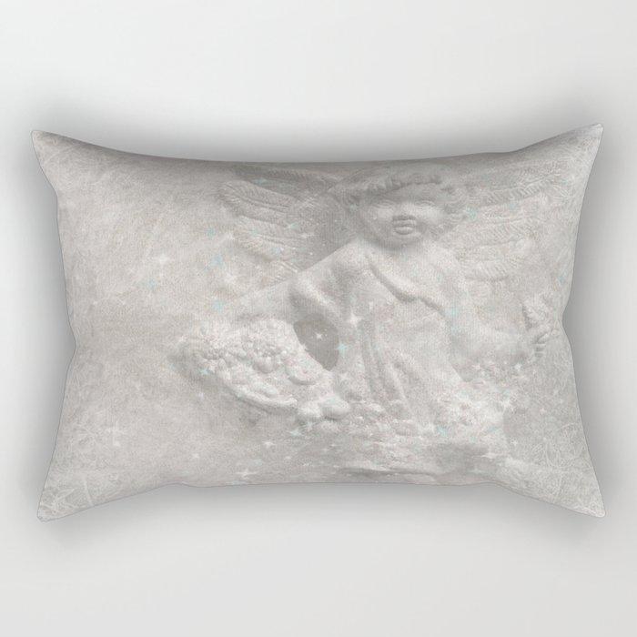 White christmas angel Rectangular Pillow