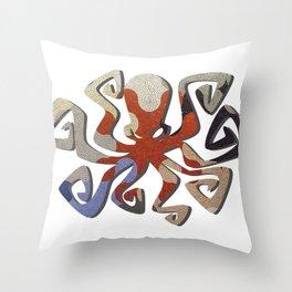 Octopus Mosaic Throw Pillow