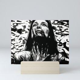 Bloody woman Mini Art Print