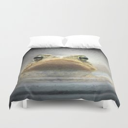 Frog from Front Painting Style Duvet Cover