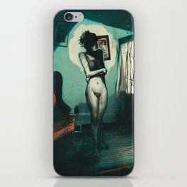 """""""There's a Devil in Your Bed"""" iPhone Skin"""