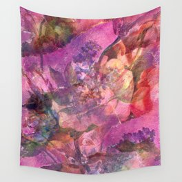 Unfolding Flowers Wall Tapestry