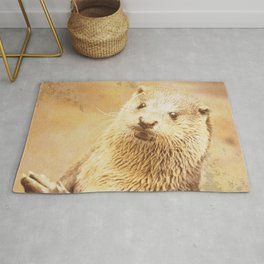 Vintage Animals - Otter Rug