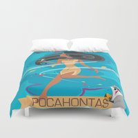 pocahontas Duvet Covers featuring Pocahontas by LindseyCowley
