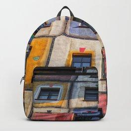 Hundertwasserhaus Vienne Autriche 3 Backpack