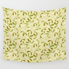 Rustic Mistletoe - Cream Wall Tapestry