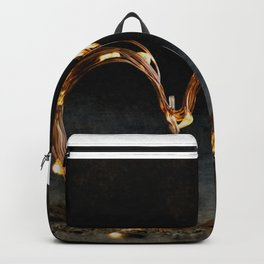Cool heart shape made from Lighting Backpack