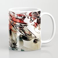 transformer Mugs featuring Vacío by Andre Villanueva