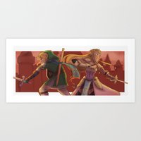 hyrule Art Prints featuring hyrule warriors by CRAZiE-CRiSSiE