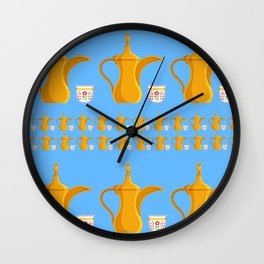 Arabic coffe pot Wall Clock