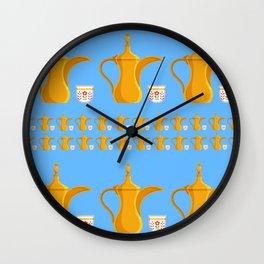 Arabic coffe pot Wall Clock