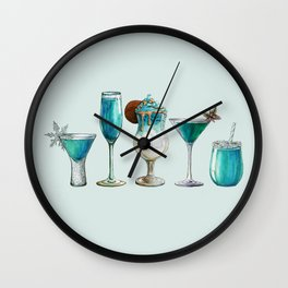 Winter Cocktail - Watercolour Drinks - Party Print Wall Clock