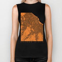 Buenos aires map orange Biker Tank