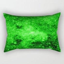 galaxy Stars 3 Bright Green Rectangular Pillow