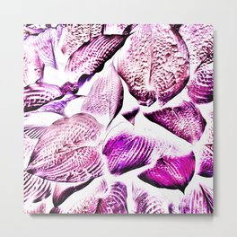479 - Purple Hosta Design Metal Print
