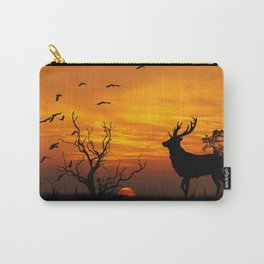 Sunset Deer Silhouette Carry-All Pouch