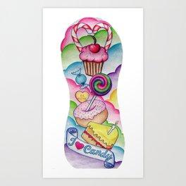 Candy Tattoo Sleeve Art Print