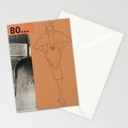 80s collage Stationery Cards