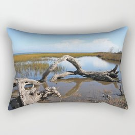 Driftwood, Quiet morning by the Sea Rectangular Pillow