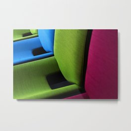 Colour Chair Metal Print