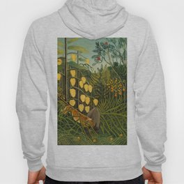 "Henri Rousseau ""Tropical Forest: Battling Tiger and Buffalo"", 1908 Hoody"