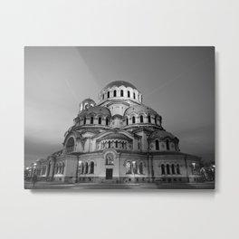 Alexander Nevsky Cathedral Church Metal Print