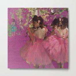 degas ballerinas pink Metal Print