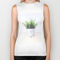 plant Biker Tanks featuring Plant by Danny Ivan
