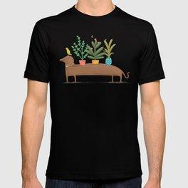 Dachshund & Parrot T-shirt