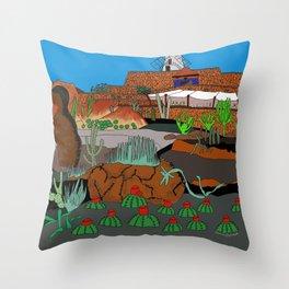 The Cactus Garden, Lanzarote, Canary Islands, Spainen, Lanzarote, Canary Islands, Spain Throw Pillow