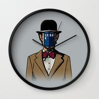 magritte Wall Clocks featuring Doctor Magritte by le.duc