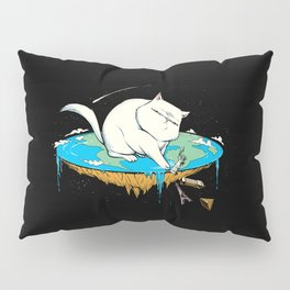 Flat Earth Cat Pillow Sham