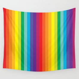 Rainbow Stripes Wall Tapestry