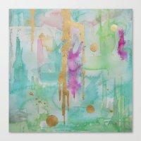 macaroon Canvas Prints featuring Mint Macaroon by Limezinnias Design