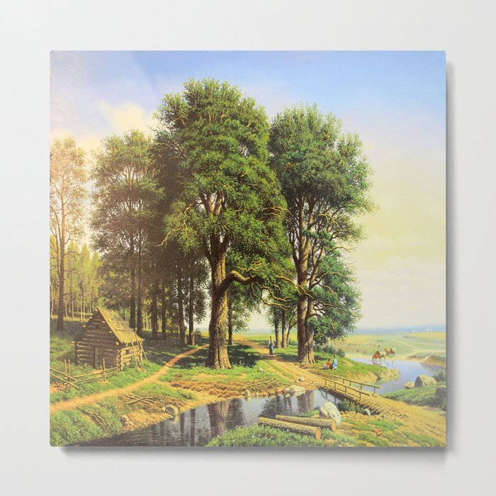 Outskirts of the village Metal Print
