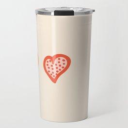 A Row of Hearts Illustration Travel Mug