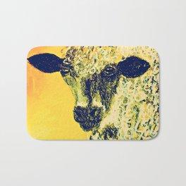 Pastel Sheep Bath Mat