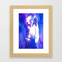 Blurry back Framed Art Print