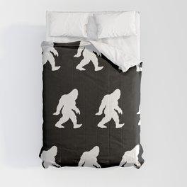 Bigfoot Sasquatch Silhouette Cartoon Comforters