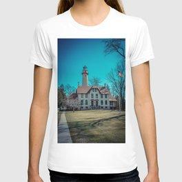 Evanston Illinois Gross Point Lighthouse Lake Michigan Light Station T-shirt