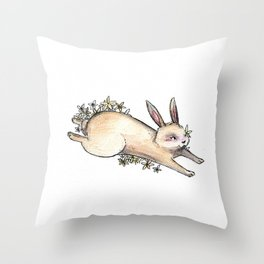 Chinese Zodiac: Rabbit Throw Pillow