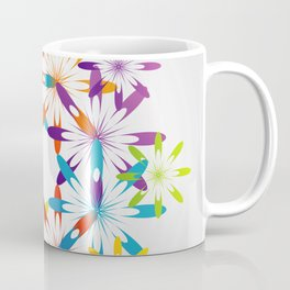 A large Colorful Christmas snowflake pattern- holiday season gifts- Happy new year gifts Coffee Mug