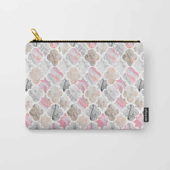 Marbled Moroccan Tiles Carry-All Pouch