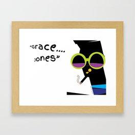 """""""Grace....Grace Jones"""" Framed Art Print"""
