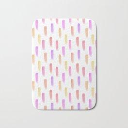 Bright watercolor pattern Bath Mat