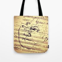 beethoven Tote Bags featuring Beethoven Music by Richard Harper
