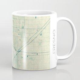 Fresno Map Blue Vintage Coffee Mug