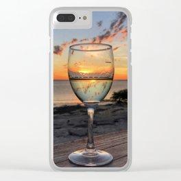 Karumba Sunset Clear iPhone Case