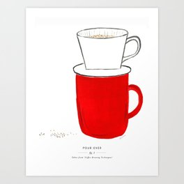 Pour Over Coffee Art Print