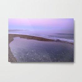 Pink purple sea. At the beach Metal Print